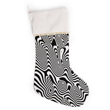 "Danny Ivan ""Trippy"" Black White Christmas Stocking"