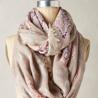 Western Isles Infinity Scarf by Anthropologie in Beige Size: One Size Scarves