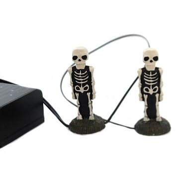 Department 56 Accessory LIT SKELETON YARD DECOR Halloween Village 6001751