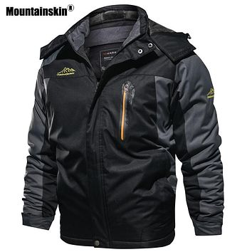 Mountainskin New Winter Men's Parkas Thick Fleece Warm Coat Men Jackets Hooded Coats Mens Brand Clothing Plus Size 7XL 8XL SA603