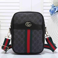 Boys & Men Gucci Men Fashion Casual Leather Tote Satchel Handbag Corssbody