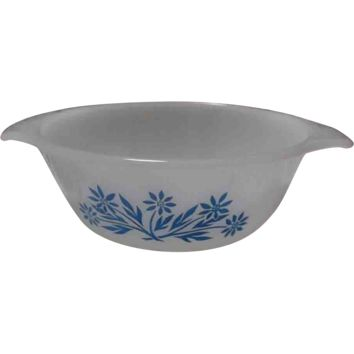 Anchor Hocking Fire King Cornflower Blue handled Bowls oven-ware