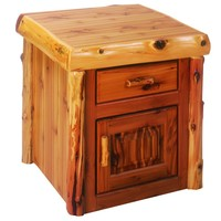 Traditional Cedar Enclosed End Table