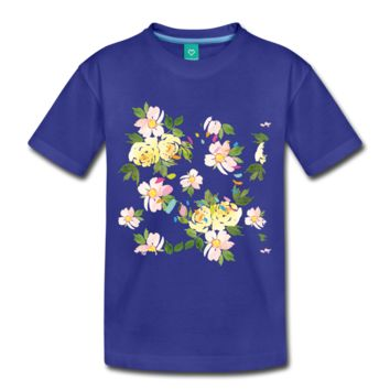 Floral Girl's Premium T-Shirt