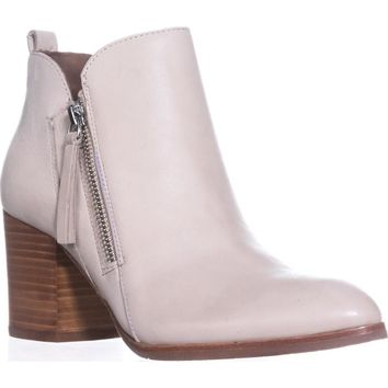 Donald J Pliner Edyn Side Zip Ankle Boots, Bone, 6 US