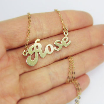 Personalized gold name necklace - 18k gold plated sterling silver necklace. birthday gift ideas, sweet 16 gift, personalized jewelry