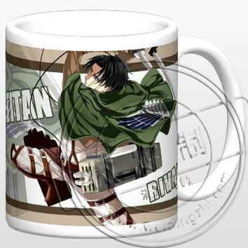 Cool Attack on Titan New  Rivai  Ceramic Coffee Mug White Color Or Color Changed Cup AT_90_11