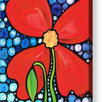 Lady In Red 2 - Buy Poppy Prints Online Acrylic Print