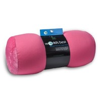 World's Best Air Soft Microbeads Tube Pillow, Pink