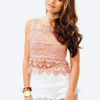 crochet-top OFFWHITE ROSE - GoJane.com