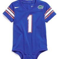 Infant Boy's Nike 'Florida Gators' Mesh Football Jersey Bodysuit