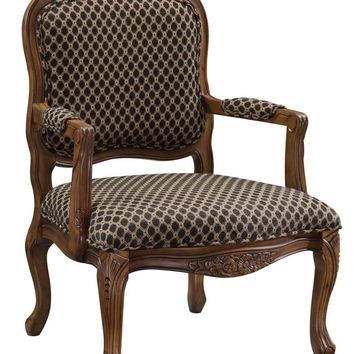 Coast to Coast 50614 Brown Pattern Accent Chair