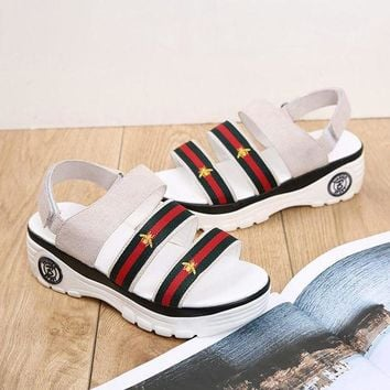 ESBON5L Leather Sandals Stylish Thick Crust Velcro [415631999012]
