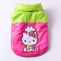 Cute Small Dog Clothes Winter Vest Waterproof Dog Coat Jacket Hello Kitty Dog Costume Chihuahua Yorkies Shih Tzu Clothes Apparel