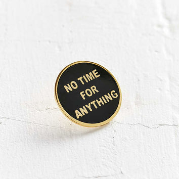 Explorers Press No Time For Anything Lapel Pin - Urban Outfitters
