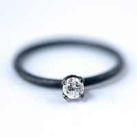 FREE SHIPPING - White Cubic Zirconia Ring