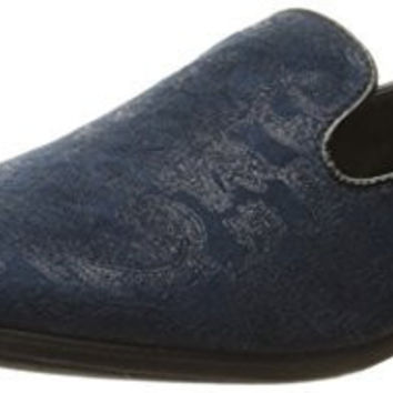 GIORGIO BRUTINI MENS COMMIT SLIP-ON LOAFER, NAVY, 7.5 M US