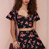 Nasty Gal Bed of Roses Skirt