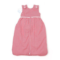 Red Baby Lined Sleeping Bag with Buttons