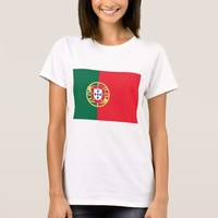 Women T Shirt with Flag of Portugal