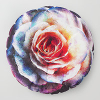 Artistic XXV - Abstract Rose Floor Pillow by tmarchev