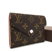 Authentic Louis Vuitton Monogram Portefeuille Victorine Trifold Wallet / 2rAAFF