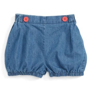 Mini Boden Pretty Chambray Bloomers (Baby Girls & Toddler Girls) | Nordstrom