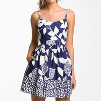Necessary Objects Leaf Print Sundress