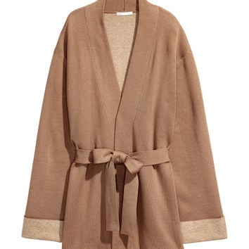 Cardigan with Tie Belt - from H&M