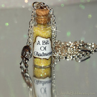 Pollyanna, A Bit of Gladness Bottle of Magic with a Hat Charm Disney Inspired Play The Glad Game