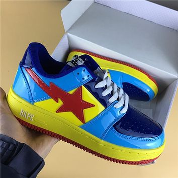 Foot Soldier BAPE STA Yellow-Blue Red Star Sneaker Shoe 36-45
