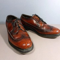 Mens Vintage 70s Shoes Stafford Imperial Longwing Cordovan