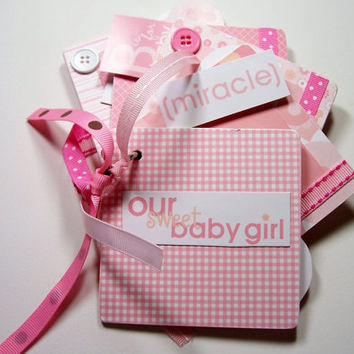 Baby Girl Mini Album, Baby Girl Scrapbook, Mini Album, Baby Girl Album, Baby Girl, Baby Girl Photo Book, Baby Girl Photo Album, Premade