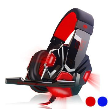Malloom Surround Stereo Gaming Headset Headband Headphone USB 3.5mm LED with Mic for PC
