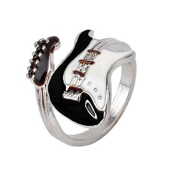 Unique stainless steel guitar ring