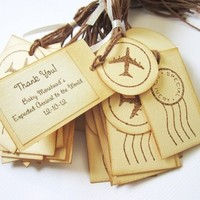 Personalized Special Delivery Airplane Gift Favor Tags for Party