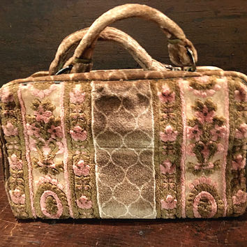 Eugenie Buchner Carpetbag Purse, Italy