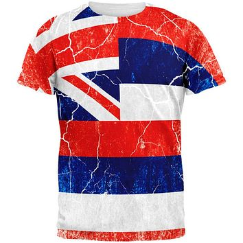 Hawaii Vintage Distressed State Flag All Over Mens T Shirt