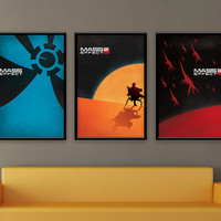 Mass Effect Inspired Vintage Poster Series