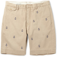 Polo Ralph Lauren - Slim-Fit Anchor-Embroidered Cotton Shorts | MR PORTER