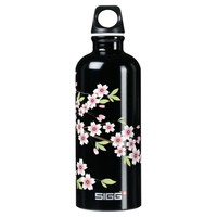 Black with Pink and Green Cherry Blossom Sakura SIGG Traveler 0.6L Water Bottle