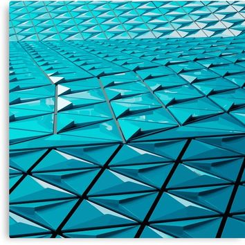 'Hypnotzd Abstract Architecture 95' Canvas Print by hypnotzd