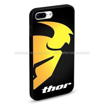 Thor Motorcross MX Dirt Bike Motorcycle iPhone 6 6s 7 8 X Plus Hard Plastic Case