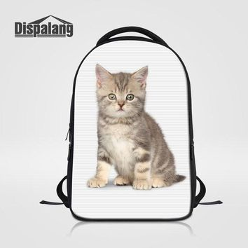 University College Backpack Dispalang Cat Printed  For Laptop Notebook  School Bag Bookbags For Teenagers Women's Travel Shoulder Bag BagpackAT_63_4