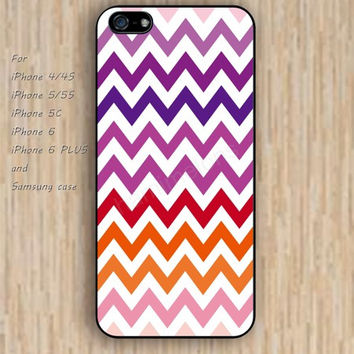 iPhone 6 case chevron Gradient color pink blue iphone case,ipod case,samsung galaxy case available plastic rubber case waterproof B206