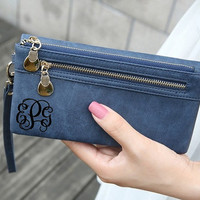 Personalized Womens Wallet, Purse, Monogram Bag, Womens Clutch