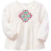 Gap Baby Factory Floral Embroidered Top