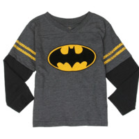 Batman Toddler Boy's Baseball L/S Top
