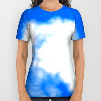 Blue Cloud All Over Print Shirt by Christy Leigh