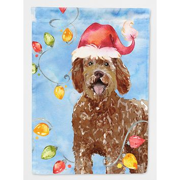 Christmas Lights Labradoodle Flag Canvas House Size CK2482CHF